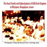 Photograph of Raja Ajit Narayan Dev's Marriage Party